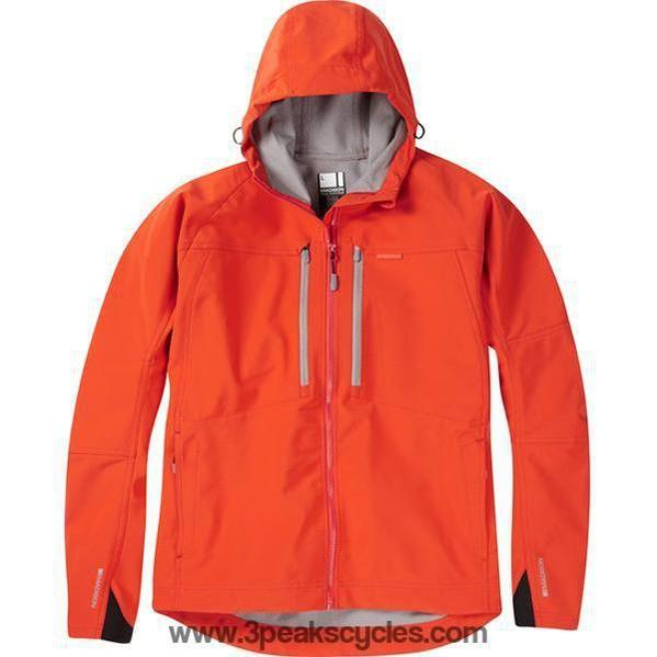 Madison Zenith Men's Orange Softshell Jacket-Jackets