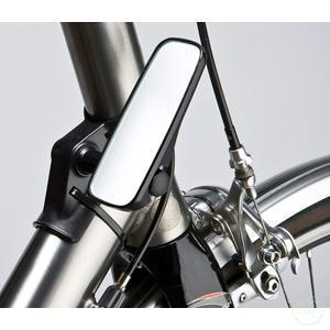 M:Part Adjustable Mirror For Head Tube Fitment, Narrow, Black-Mirrors