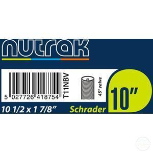 "Nutrak 10"" Schrader Inner Tube With 45 Degree Valve-Inner Tubes"