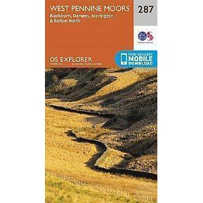 OS Explorer Map 287 - West Pennine Moors - Blackburn, Darwen And Accrington-Books & Maps