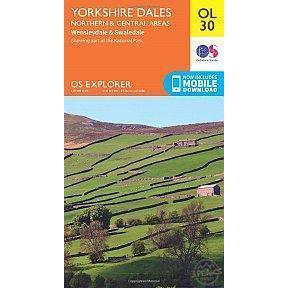 OS Explorer Map OL30 - Yorkshire Dales - Northern & Central Areas-Books & Maps