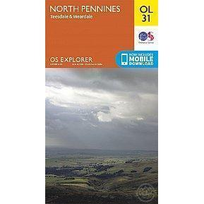 OS Explorer Map OL31 - North Pennines - Teesdale & Weardale-Books & Maps