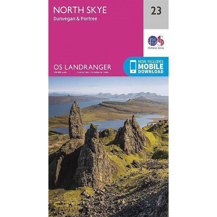 OS Landranger Map 23 - North Skye, Dunvegan & Portree-Books & Maps