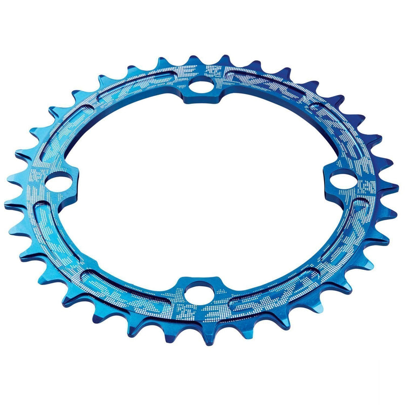 Race Face Narrow Wide Chainring 104 BCD 30t Blue-Chainrings
