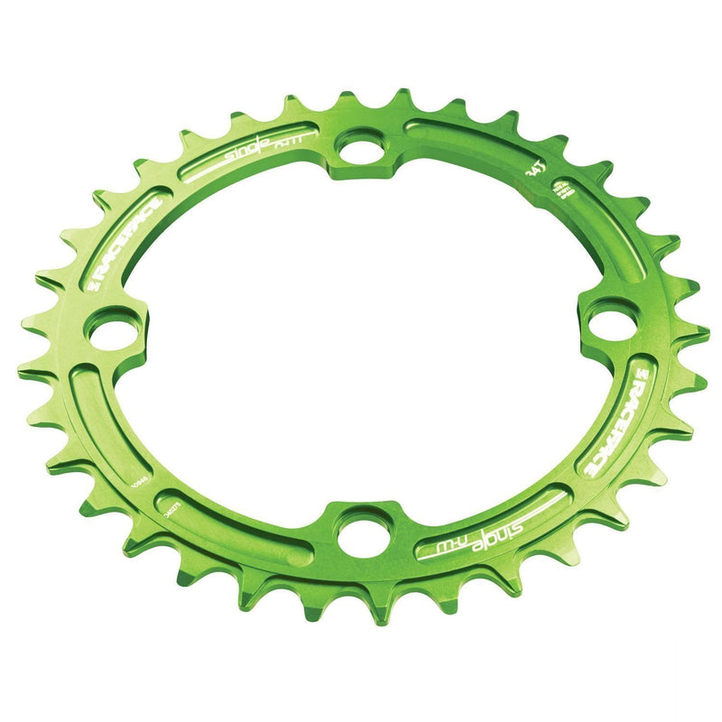 Race Face Narrow Wide Chainring 104 BCD 30t Green-Chainrings