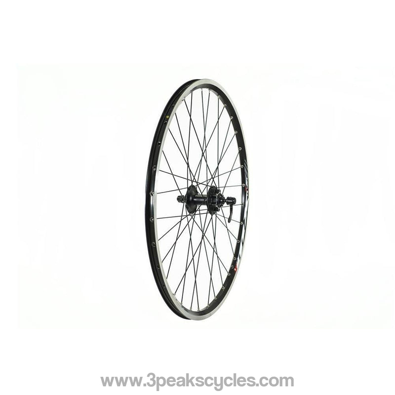 "Raleigh 26"" Front Disc Wheel with Deore Hub (ALSO V-BRAKE COMPATIBLE)-Wheels"