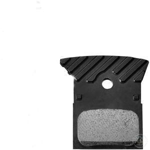Shimano L02A Alloy Backed Resin Disc Brake Pads With Cooling Fins-Brake Pads - Disc