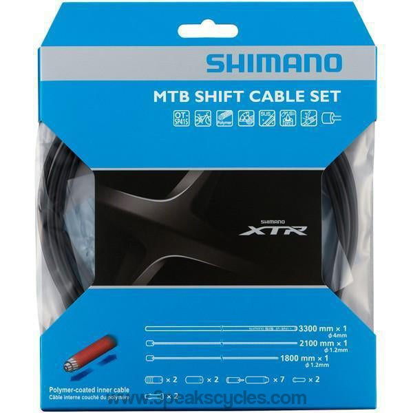 Shimano MTB XTR Gear Cable Set With Polymer Coated Inner Wire-Cables
