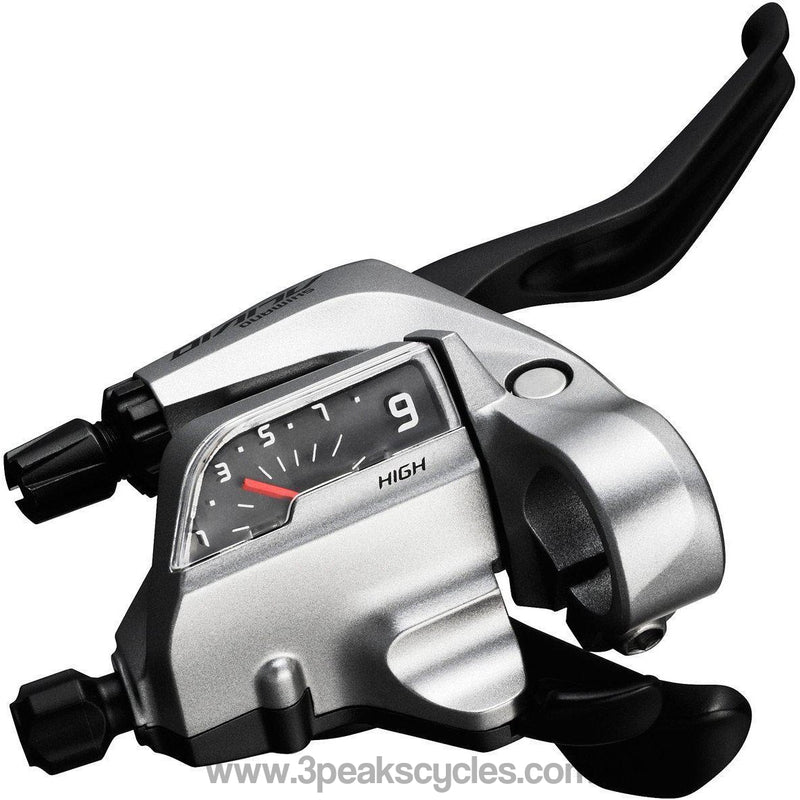 Shimano ST-T4000 Alivio 9-spd Tap Fire Plus for V-brake, 3 finger right hand-Gear Shifters