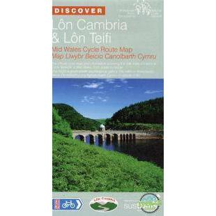 Sustrans Cycle Map - Lon Cambria And Lon Teifi (Route 81 / 82) Mid Wales - Fishguard To Shrewsbury-Books & Maps