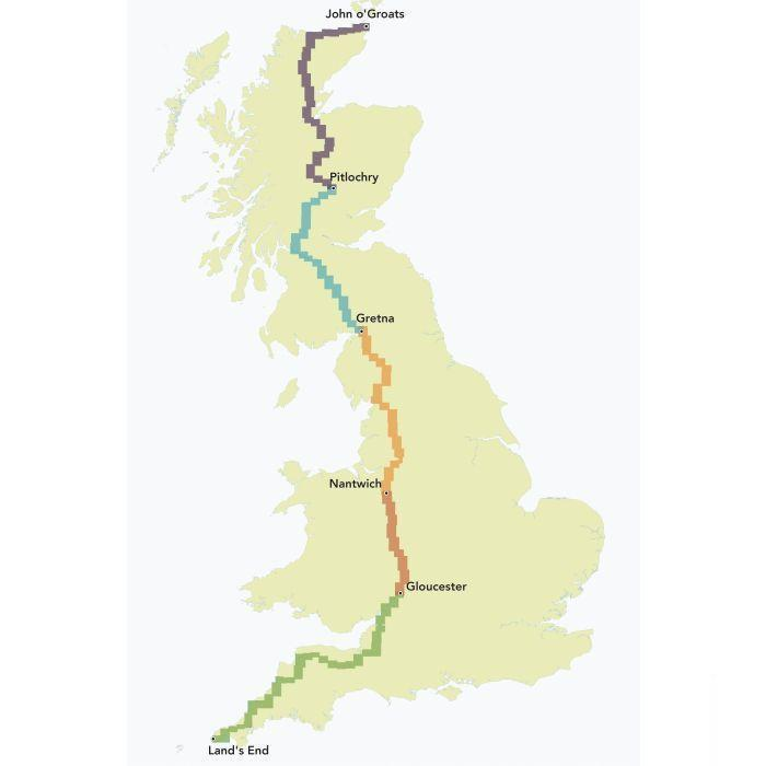 Sustrans Guide - Land's End To John O'Groats-Books & Maps