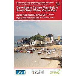 Sustrans Pocket Guide 13 - South West Wales Cycle Map - Including Millennium Coastal Park, Swiss Valley-Books & Maps