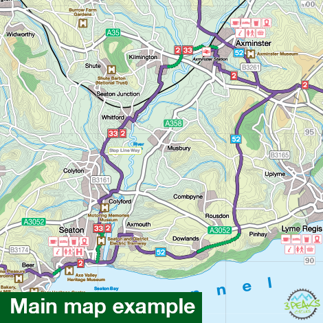 Sustrans Pocket Guide 14 - Mid-Wales South Cycle Map - Including The Ystwyth Trail, Elan Valley Trail-Books & Maps