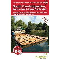 Sustrans Pocket Guide 17 - South Cambridgeshire, Beds & North Herts Cycle Map-Books & Maps