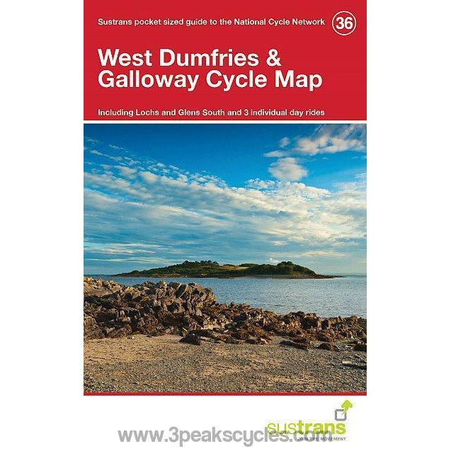 Sustrans Pocket Guide 36 - West Dumfries & Galloway Cycle Map - Lochs And Glens South-Books & Maps