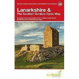Sustrans Pocket Guide 38 - Lanarkshire & The Scottish Borders Cycle Map - Coast Castles South, 4 Abbeys, Borderloop-Books & Maps