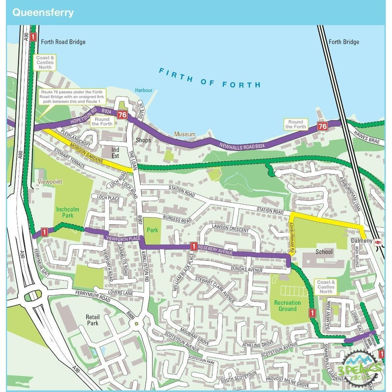 Sustrans Pocket Guide 40 - Edinburgh, Stirling & The Forth Cycle Map - Coast And Castles North & South-Books & Maps