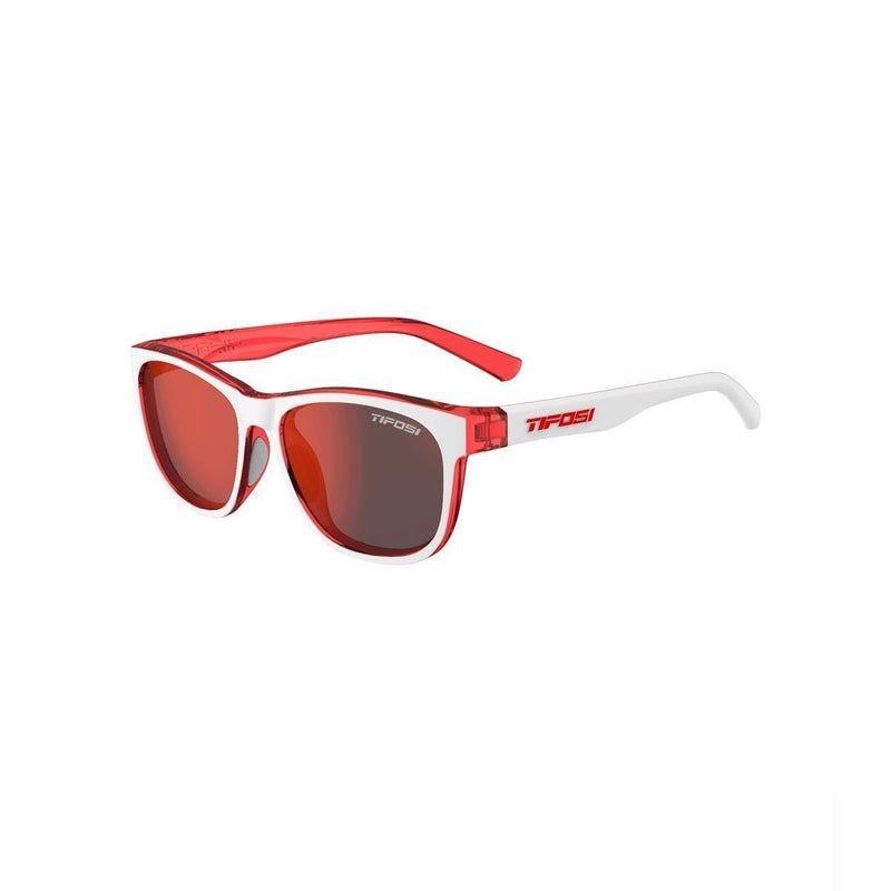 Tifosi Swank: Icicle Red/Smoke Red-Eyewear