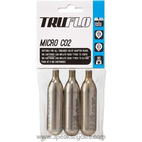 Truflo Micro Co2 Pump Refill Pack (3 X 16 G Cartridges)-Pumps