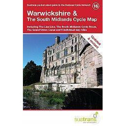 Warwickshire & The South Midlands Cycle Map 16 - Sustrans - Including Lias Line, South Mids Cycle Route-Books & Maps
