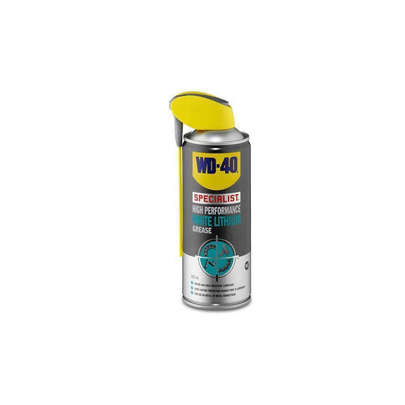 WD-40 White Lithium Grease 400ml-Cleaning & Lubrication-WD40-3 Peaks Cycles Bike Shop & Cafe