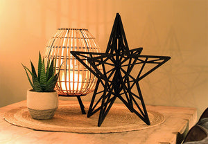 Houten kerstster - Lounge&Lifestyle