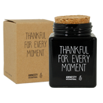 Soja kaars - Thankful for every moment (zwart) - Lounge&Lifestyle