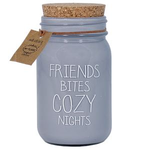 Soja kaars  - Friends bites cozy nights - Lounge&Lifestyle
