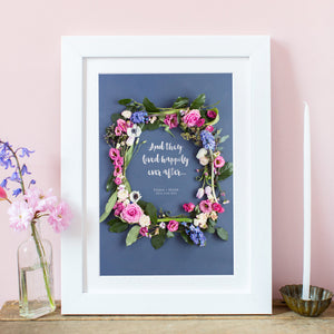 Floral Frame Wedding Print