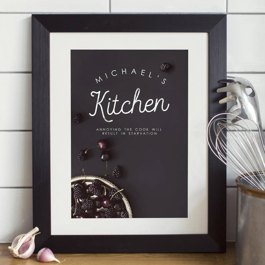 Personalised Chef's Kitchen Print