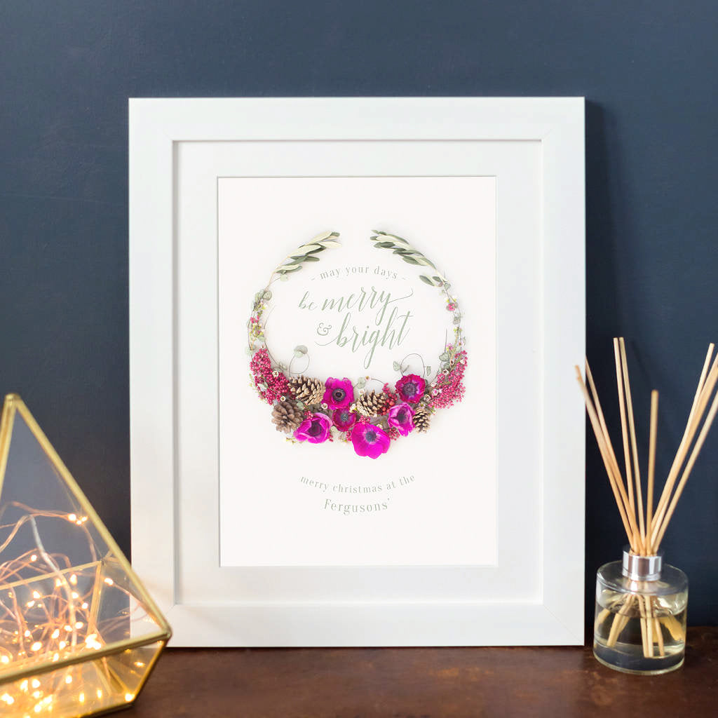 Minimalist Christmas Wreath Print