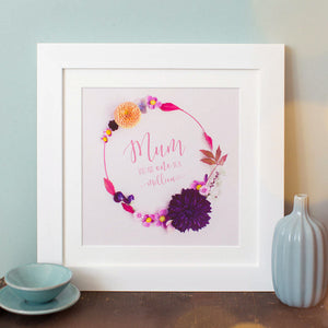 """Mum, You Are One in a Million"" Print"