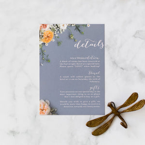 Peony Dream Collection: Information Cards