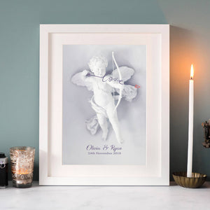 Personalised Cupid Print for Couple