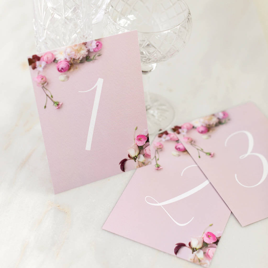 Secret Garden Collection: Table Numbers