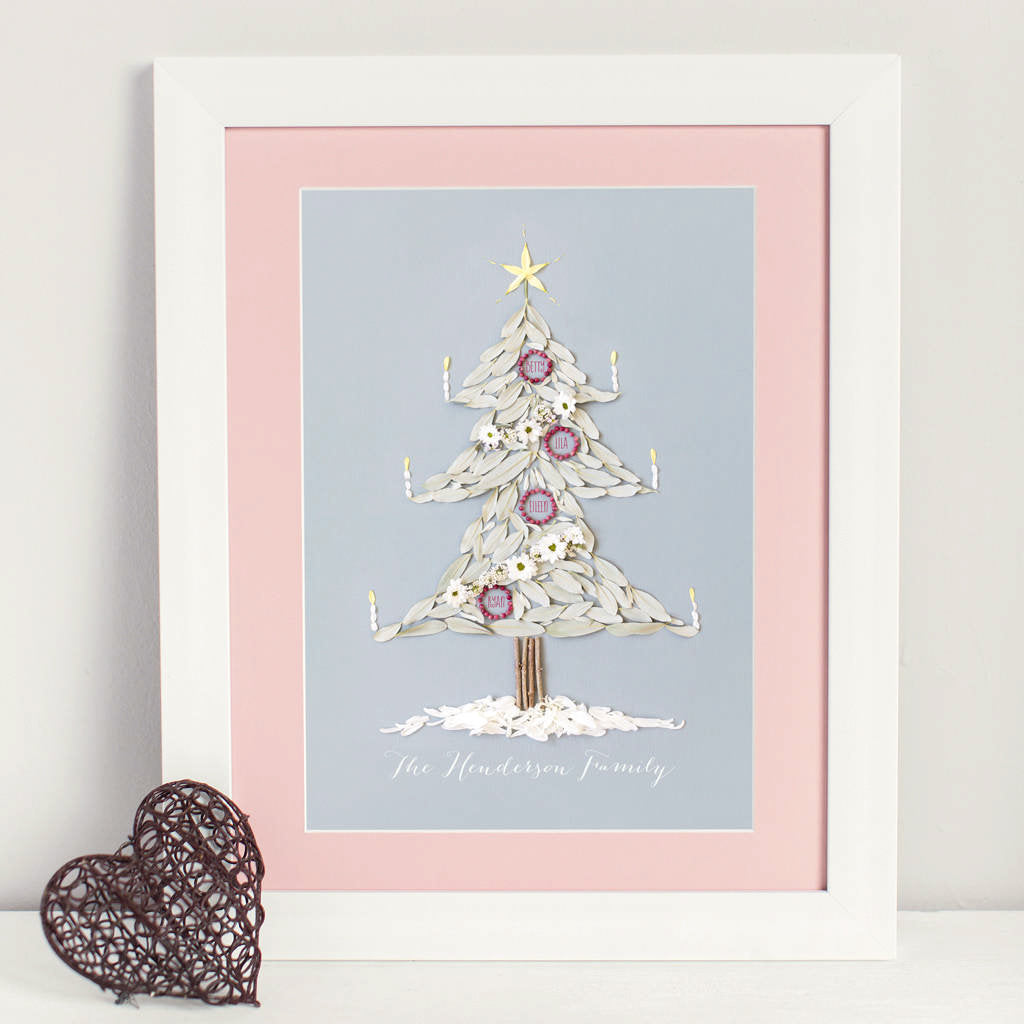 Christmas Family Tree Print