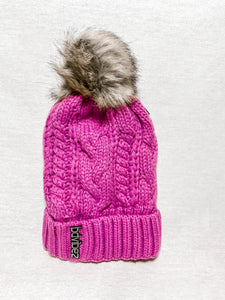 B Snow Chillz Hot Pink Pom Beanie