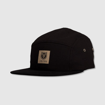 Camper 5 Panel Cap - Black