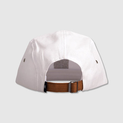 Camper 5 Panel Cap - White