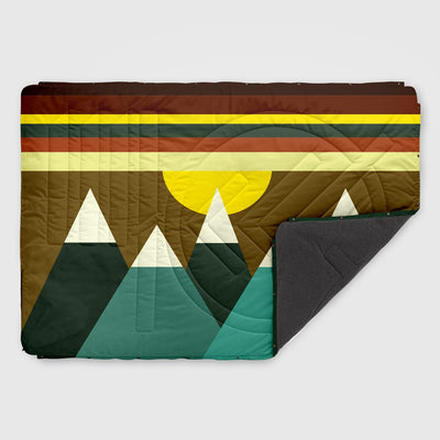 Fleece Outdoor Pillow Blanket