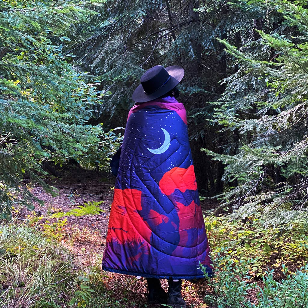 FLEECE OUTDOOR CAMPING BLANKET SAVE OUR LANDS NIGHT