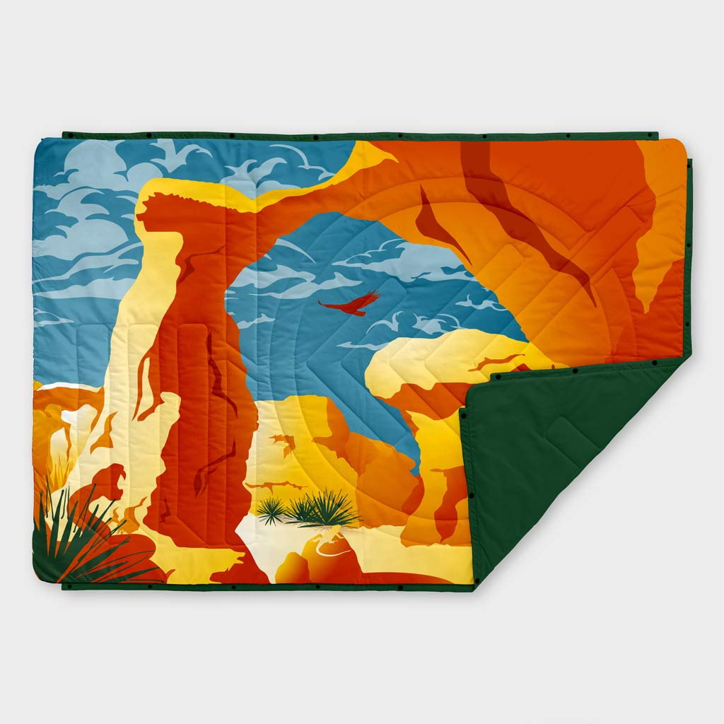RECYCLED RIPSTOP OUTDOOR CAMPING BLANKET SAVE OUR LANDS DAY