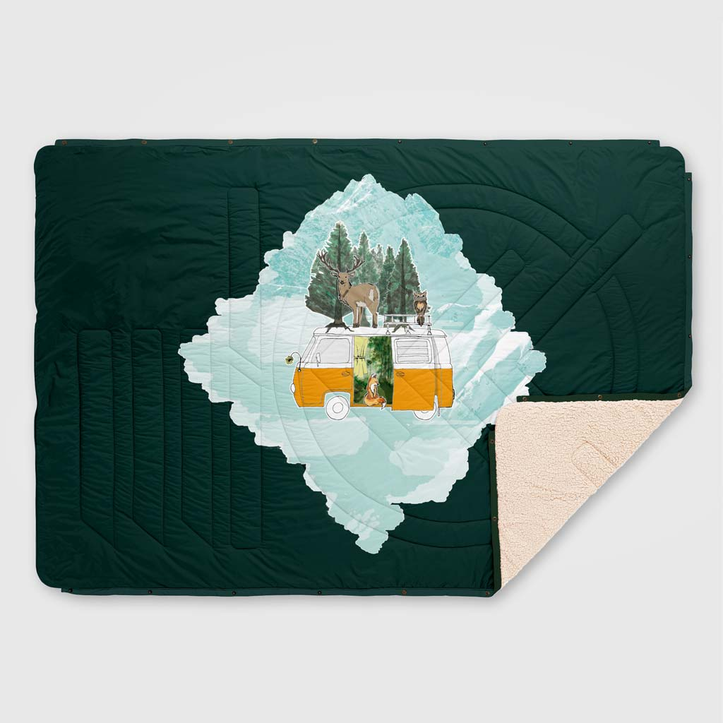CLOUDTOUCH INDOOR/OUTDOOR CAMPING BLANKET VANILLA ICEDREAM