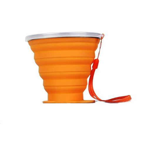 Gourde Plastique Pliable orange