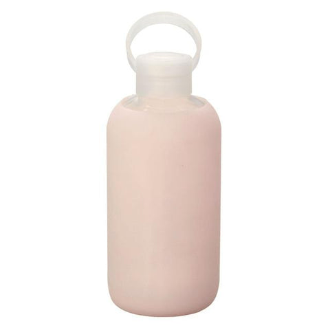 gourde verre protection silicone rose