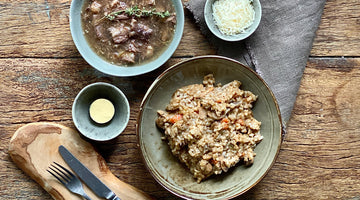 8 Hour Braised Oxtail & Wild Mushroom Risotto