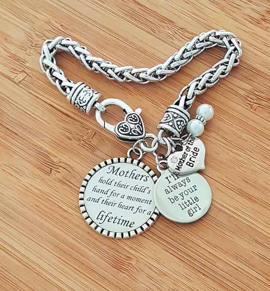 Mother of the Bride Gift Mother of the Bride Bracelet Mother of the Bride Gift from Bride I'll Always Be Your Little Girl Keychain