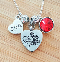 Urn Necklace Urn Jewelry Sympathy Necklace Sympathy Gift In Memory of Son Memorial Necklace Loss of Son Loss of a Child Remembrance Necklace