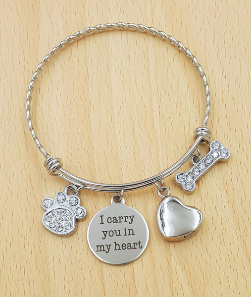 Pet Urn Jewelry Pet Memorial Bracelet Loss of Dog Bracelet Loss of Pet Bracelet Loss of Cat Loss of Pet Gift Loss of Family Pet Gift Pet