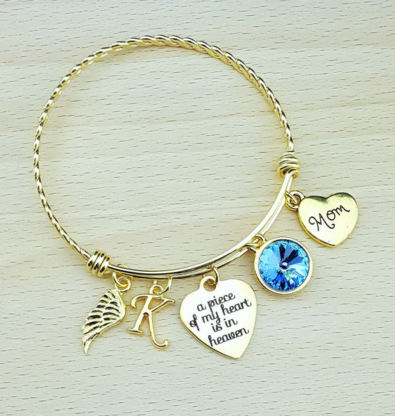 Sympathy Bracelet Sympathy Gift In Memory of Mom Memorial Bracelet Loss of Mom Remembrance Bracelet Remembrance Jewelry Loss of Mother Gold